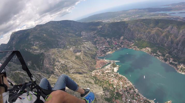 Paragliding-Budva-Tandem paragliding flight in the Kotor Bay, Montenegro-3