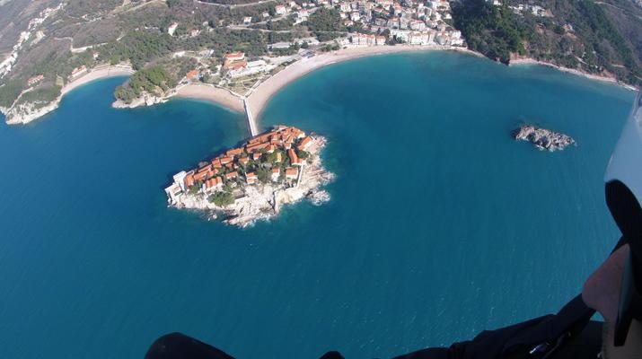 Paragliding-Budva-Tandem paragliding flight in St Stefan, Montenegro-2