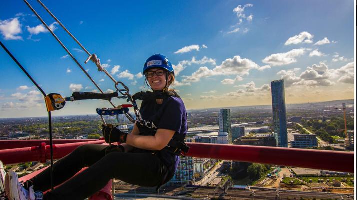 Rápel-London-Descenso en rappel de ArcelorMittal Orbit en el Parque Olímpico de Londres-6