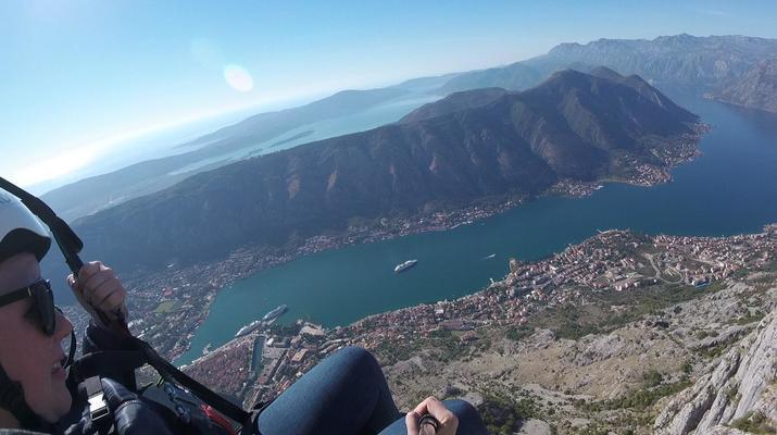 Paragliding-Budva-Tandem paragliding flight in the Kotor Bay, Montenegro-4
