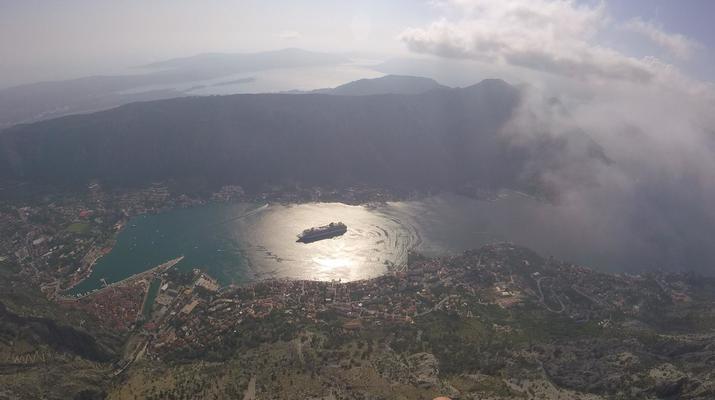 Paragliding-Budva-Tandem paragliding flight in the Kotor Bay, Montenegro-2