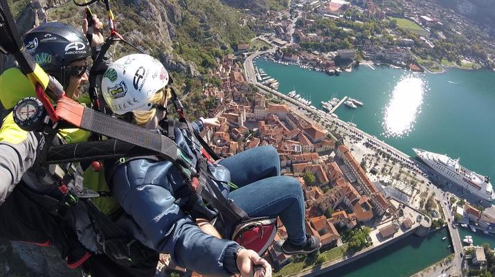 Paragliding-Budva-Tandem paragliding flight in the Kotor Bay, Montenegro-6