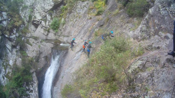 Canyoning-Pyrénées Orientales-Canyoning in the Gorges du Llech, near Prades-9