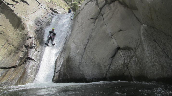 Canyoning-Pyrénées Orientales-Canyoning in the Gorges du Llech, near Prades-3