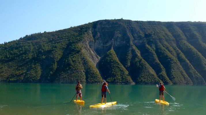 Stand Up Paddle-Gorges du Verdon-Stand-Up Paddle sur le lac de Castillon, près des Gorges du Verdon-3