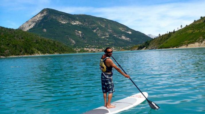 Stand Up Paddle-Gorges du Verdon-Stand-Up Paddle sur le lac de Castillon, près des Gorges du Verdon-5