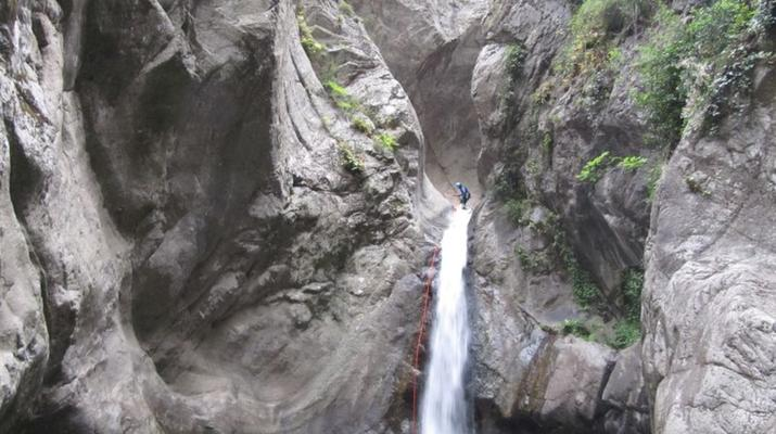 Canyoning-Pyrénées Orientales-Canyoning in the Gorges du Llech, near Prades-13