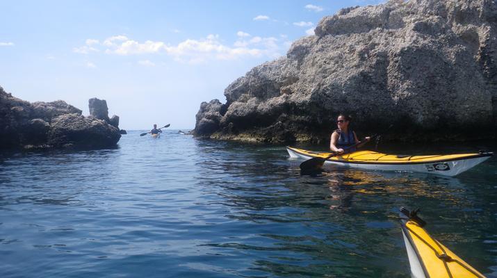 Sea Kayaking-Taormina-Guided Kayak Tour along the Taormina Coast-2