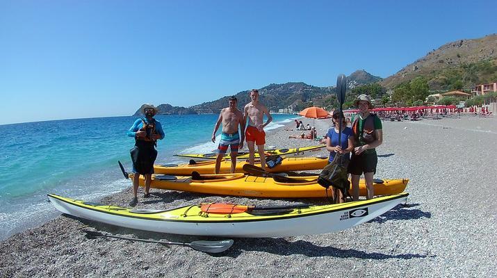 Sea Kayaking-Taormina-Guided Kayak Tour along the Taormina Coast-1