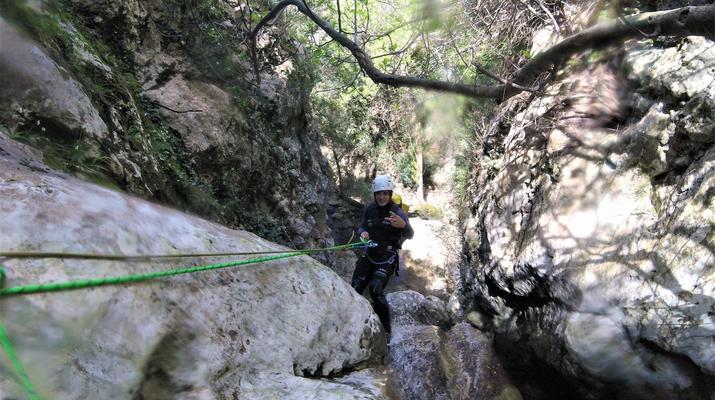 Canyoning-Mallorque-Descente en canyoning de la Muntanya dans la Serra de Tramuntana, Majorque-2