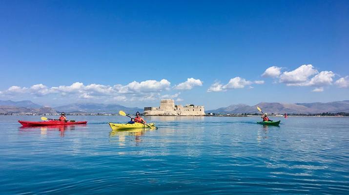 Kayak de mer-Epidaurus-Excursion en kayak de mer dans la ville engloutie d'Epidaure-1