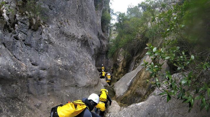 Canyoning-Mallorque-Descente en canyoning de la Muntanya dans la Serra de Tramuntana, Majorque-3