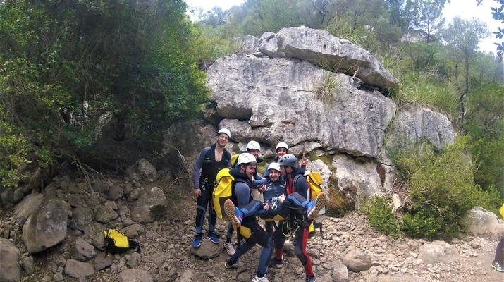 Canyoning-Mallorque-Descente en canyoning de la Muntanya dans la Serra de Tramuntana, Majorque-1