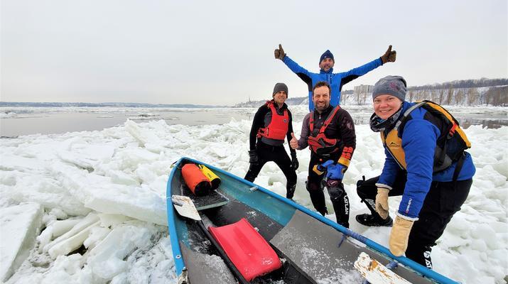Kayaking-Quebec city-Ice Canoe Initiation in Quebec-7