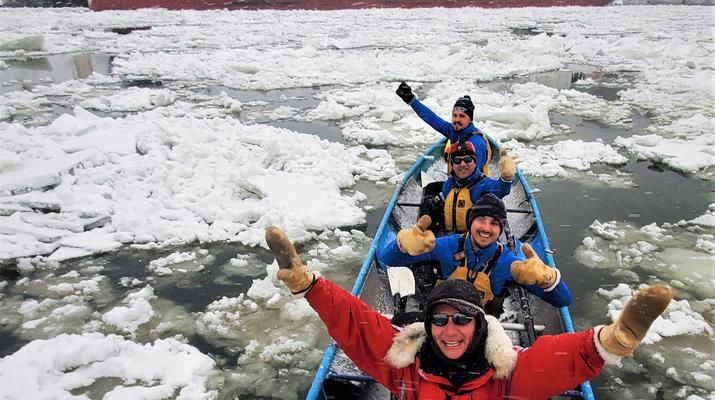 Kayaking-Quebec city-Ice Canoe Initiation in Quebec-6