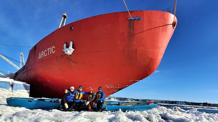 Kayaking-Quebec city-Ice Canoe Initiation in Quebec-5