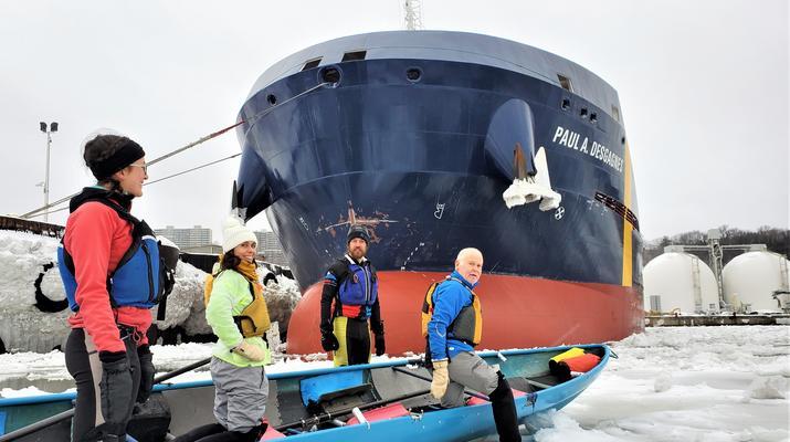 Kayaking-Quebec city-Ice Canoe Initiation in Quebec-3