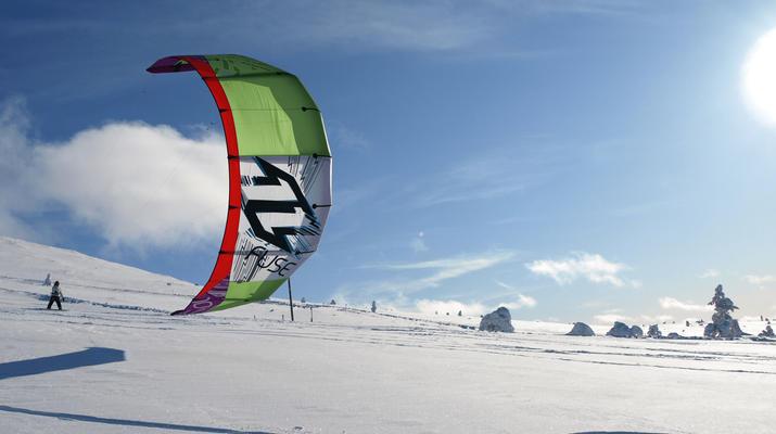 Snowkiting-Levi-Intro-/Anfänger-Snowkitekurs rund um Levi-1
