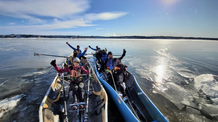 Kayaking-Quebec city-Ice Canoe Initiation in Quebec-1