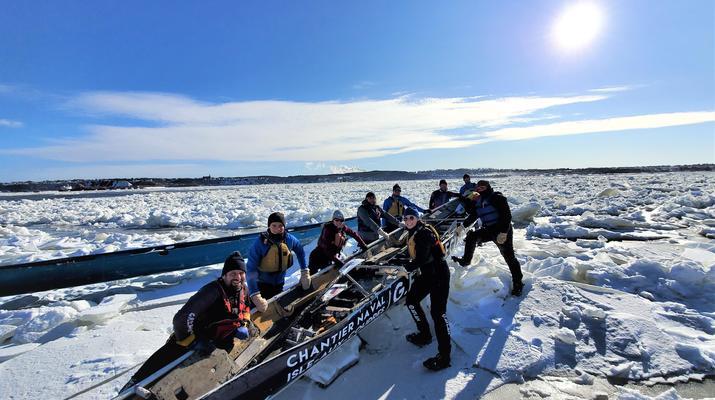 Kayaking-Quebec city-Ice Canoe Initiation in Quebec-2