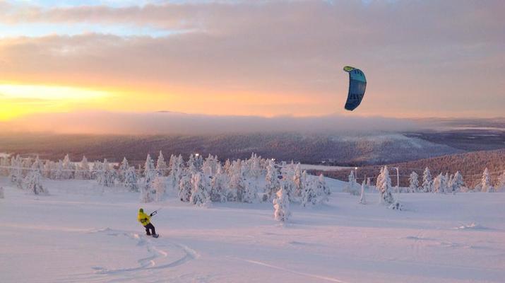 Snowkiting-Levi-Intro-/Anfänger-Snowkitekurs rund um Levi-4