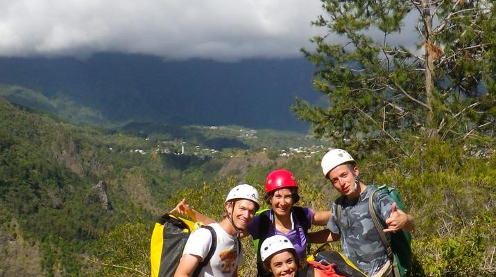 Canyoning-Cirque de Cilaos-Canyon de Fleur Jaune à La Reunion-14
