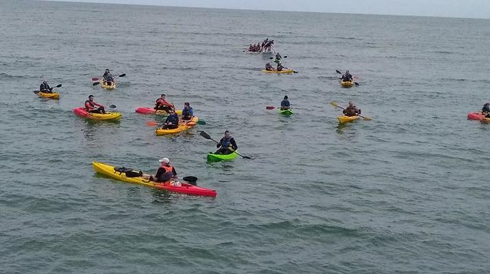 Kayak de mer-Omaha Beach-Randonnée en kayak de mer le long des falaises d'Omaha Beach-1