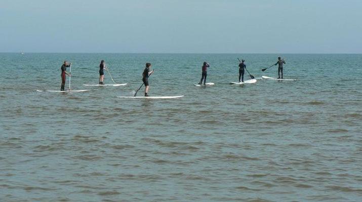 Stand Up Paddle-Omaha Beach-Randonnée en Stand Up Paddle sur Omaha Beach, Normandie-1