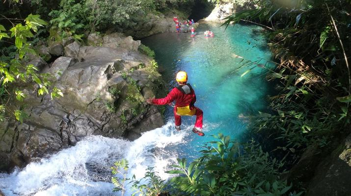 Canyoning-Langevin River, Saint-Joseph-Canyoning on Langevin River in La Reunion-1