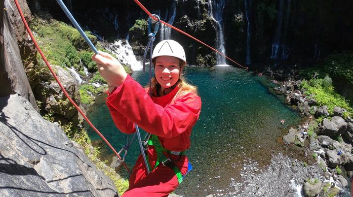 Canyoning-Langevin River, Saint-Joseph-Canyoning on Langevin River in La Reunion-3