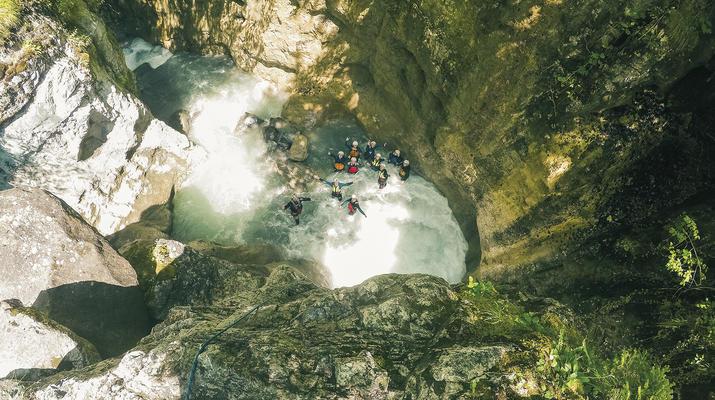 Canyoning-Interlaken-Canyoning in the Saxeten Gorge in Interlaken, Switzerland-3