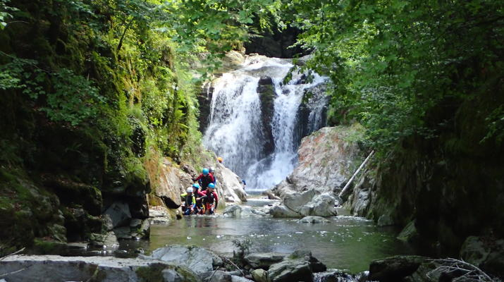 Canyoning-Laruns-Full day canyoning down the canyon of Canceigt and Bious  in Ossau Valley-2
