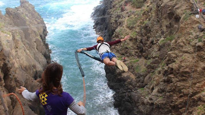 Bungee Jumping-Las Palmas de Gran Canaria-Rope Swinging (28 m) from La Calzada Bridge near Las Palmas de Gran Canaria-3