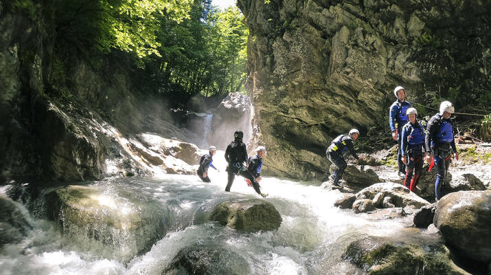 Canyoning-Interlaken-Canyoning in the Saxeten Gorge in Interlaken, Switzerland-1