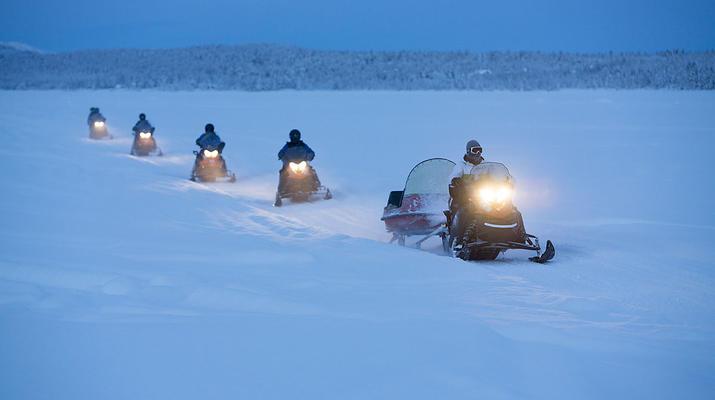 Motoneige-Kiruna-Circuit en motoneige aux aurores boréales près de Kiruna, Suède-4