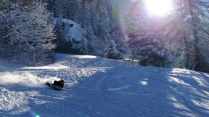Experiencias en la nieve-Val Cenis, Haute Maurienne-Sesión de Airboard en Val Cenis, Macizo de la Vanoise-3