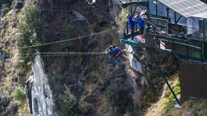 Bungee Jumping-Queenstown-Canyon Swing from 109 metres over Shotover Canyon-11