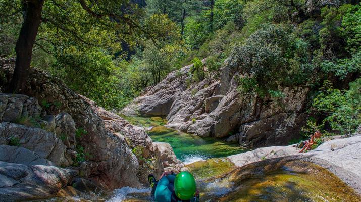 Canyoning-Bavella-Canyon of Purcaraccia in Bavella, Corsica-2