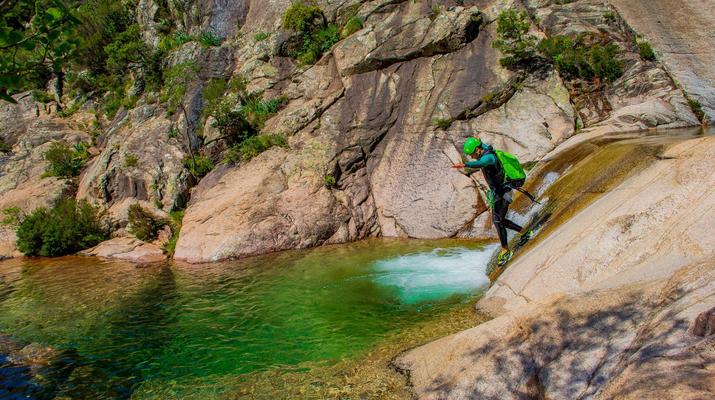 Canyoning-Bavella-Canyon of Purcaraccia in Bavella, Corsica-4