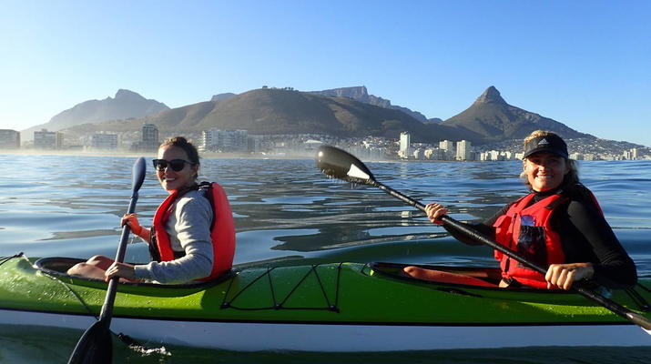 Sea Kayaking-Cape Town-Kayaking excursion in Table Bay, South Africa-3