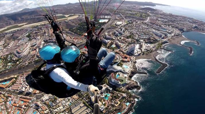 Paragliding-Teide Natural Park, Tenerife-Highest tandem paragliding flight in Europe from Mount Teide, Tenerife-1