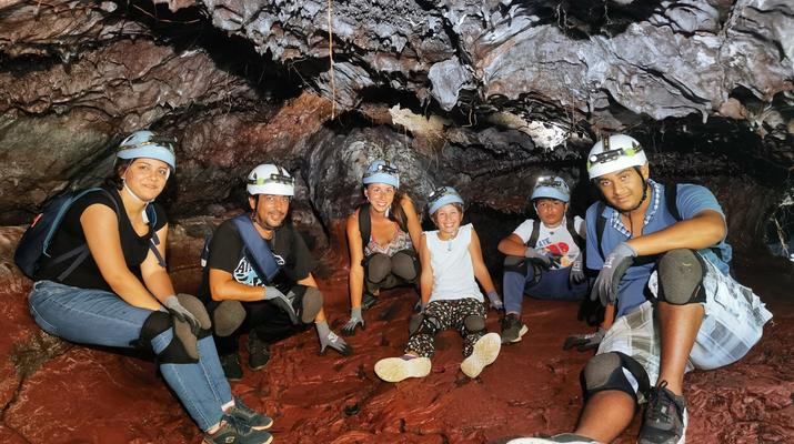 Caving-Piton de la Fournaise-Caving excursion in the 2004 Lava Tube in Reunion Island-3