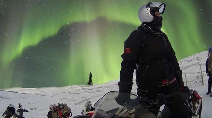 Snowmobiling-Rovaniemi-Chasing the Northern Lights on Snowmobile, near Rovaniemi-3