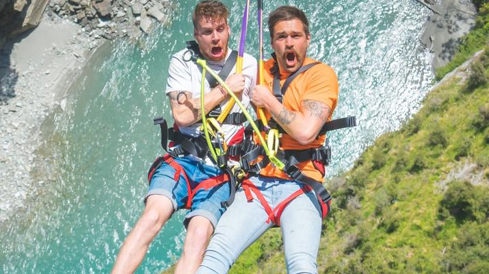 Bungee Jumping-Queenstown-Canyon Swing from 109 metres over Shotover Canyon-2