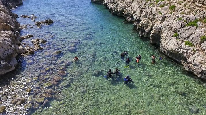 Tauchen-Almyrida-PADI Discover Scuba Diving Kurs in Chania-5