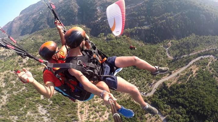 Paragliding-Lefkada-Tandem Paragliding flight over Kathisma beach, Lefkada-2