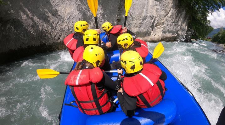 Rafting-Samoëns, Le Grand Massif-Rafting descent of Giffre river in Samoens-2
