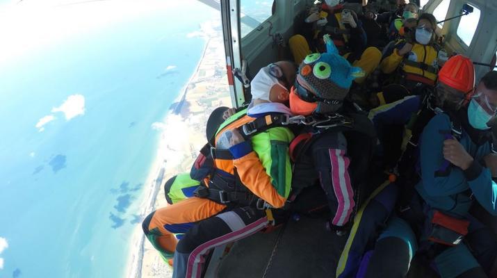Parachutisme-Le Havre-Saut en parachute tandem entre Etretat et Le Havre-2
