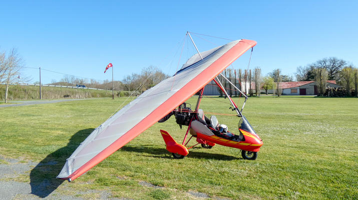 Microlight flying-Toulouse-Microlight plane first flight near Toulouse-11