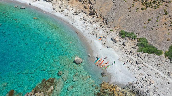 Seekajak-Sfakia-Seekajak-Ausflug vom Strand Loutro bei Sfakia-4